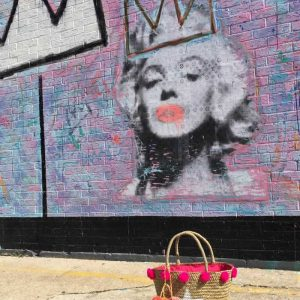 Fuschia Star Straw Bag Marilyn