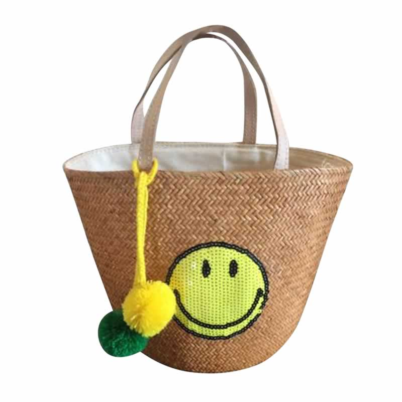 Small Yellow Sequin Smiley Bag